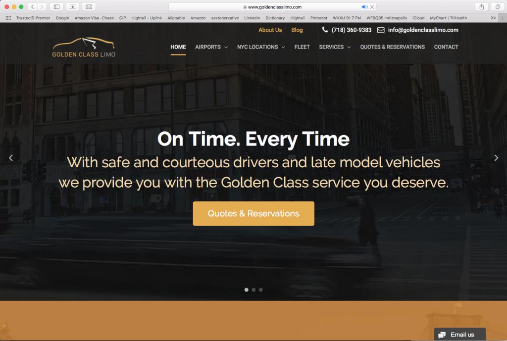 Golden Class Limo Website