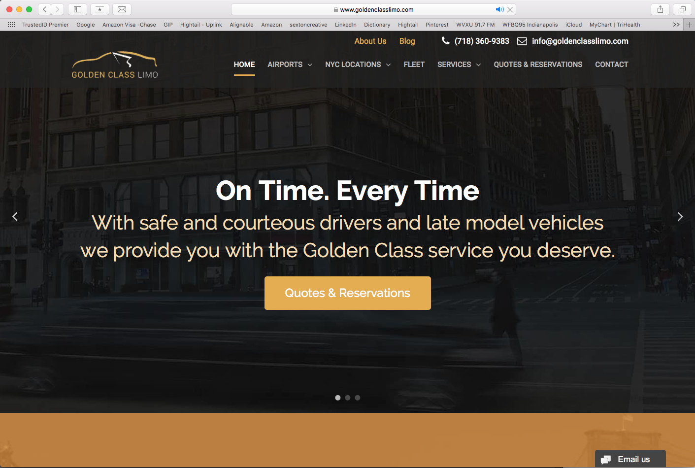 Golden Class Limo Website