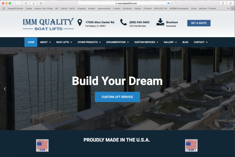 IMM Quality Boat Lifts Website