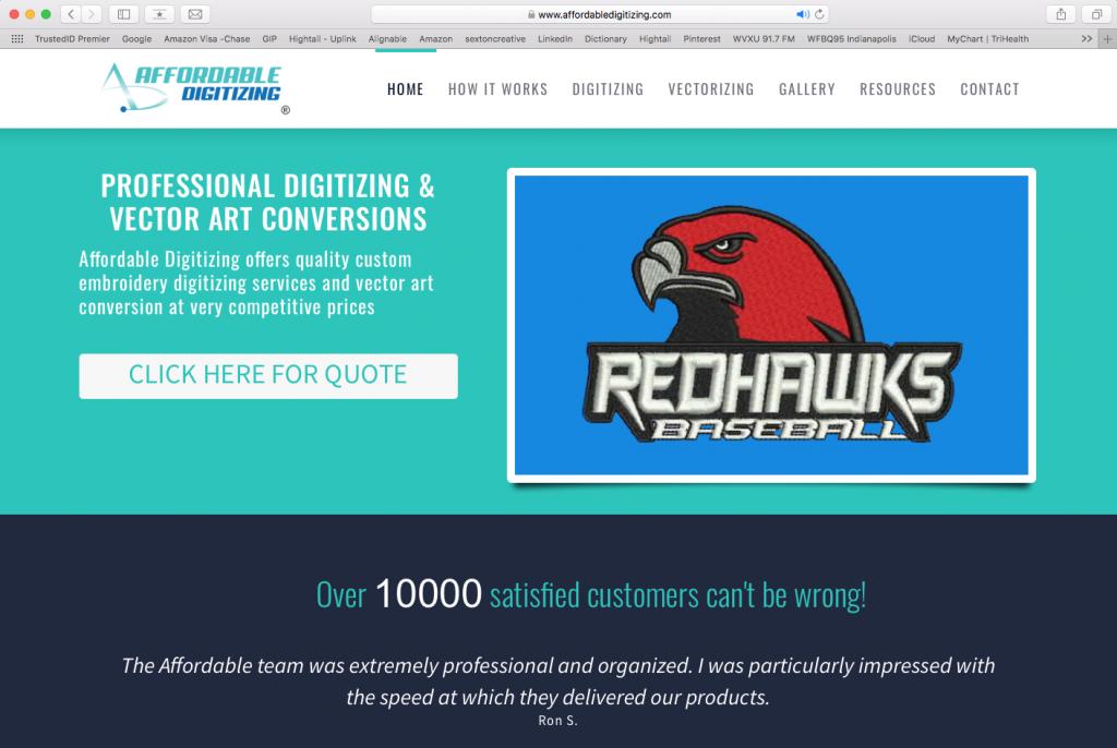 Affordable Digitizing Website