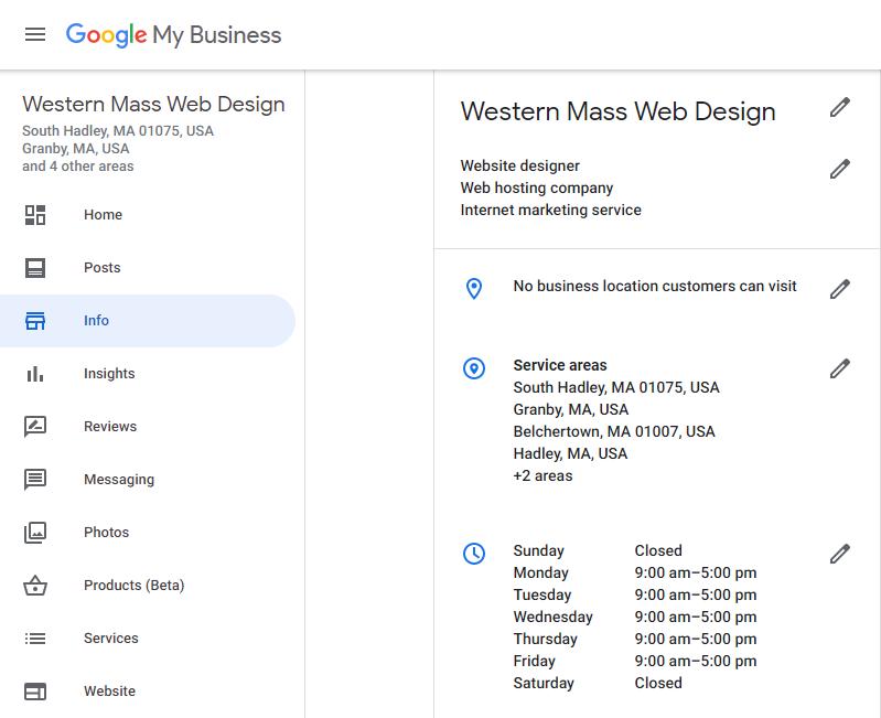 Google Business Dashboard