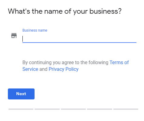 Google My Business name
